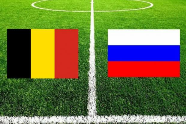флаги России и Бельгии
