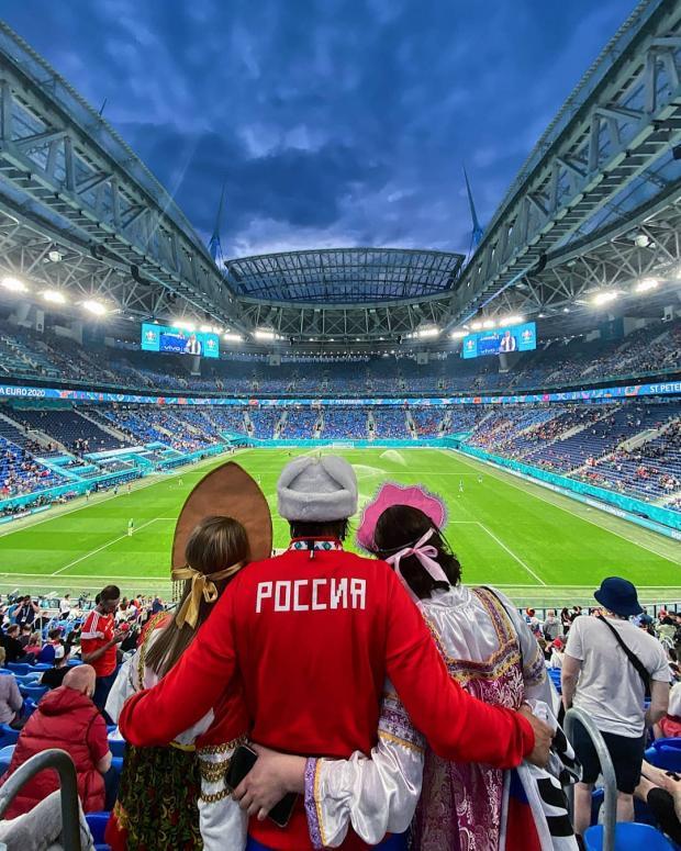 поклонники сборной России по футболу
