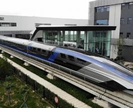 Китай запустил самый быстрый поезд в мире, способный разогнаться до 600 км в час