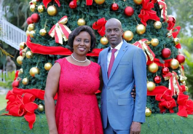 Президент Гаити  с женой