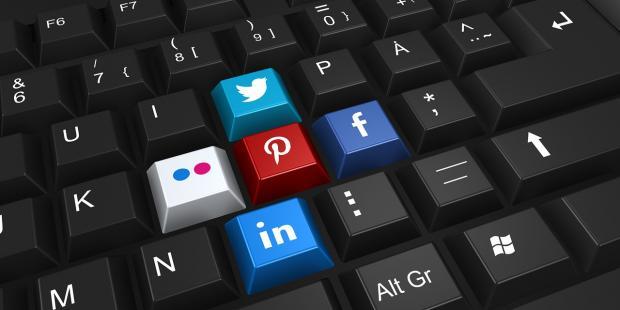 клавиатура  с кнопками социальных сетей