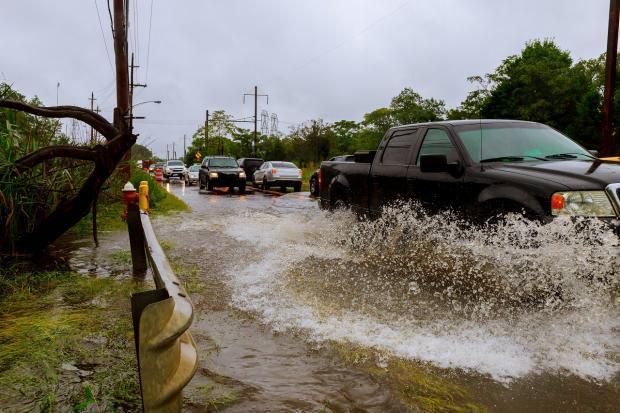наводнение на дороге