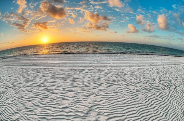 пляж, море, восход