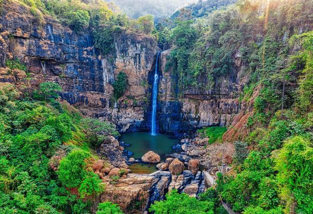 красивая природа, водопад