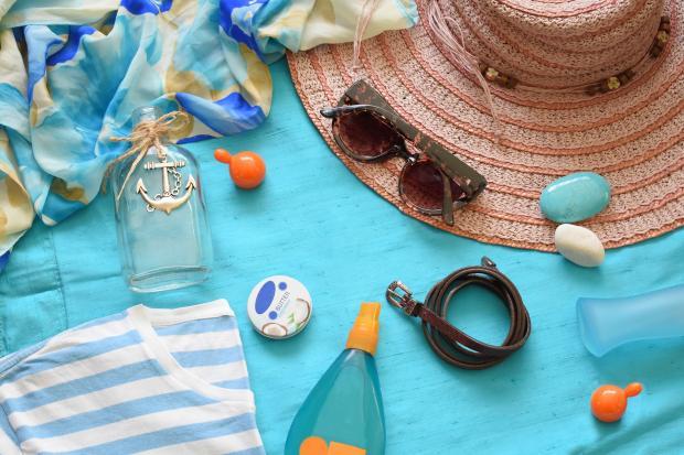 шляпа, сумка, бутылочка, морские камки