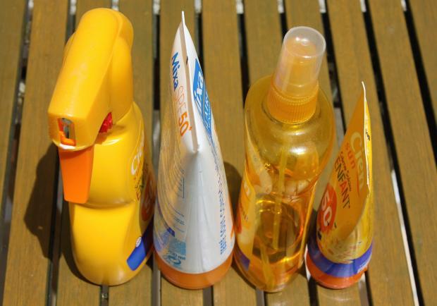 солнцезащитные крема, спреи