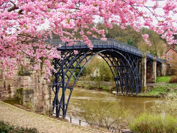 металлический мост через реку