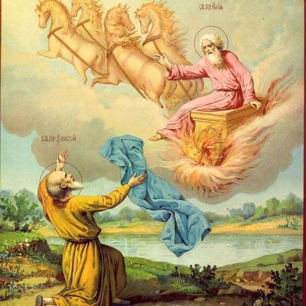 пророк Илия возносится на Небеса