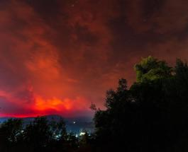 Лесные пожары на греческом острове Эвия привели к эвакуации местных жителей