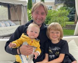 Евгений Плющенко с сыновьями принял участие в модной фотосессии для журнала