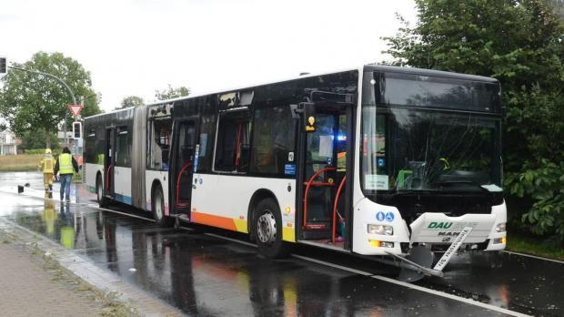 Разбитый автобус в Германии