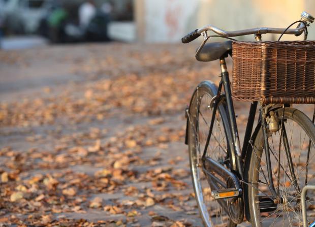 велосипед на осенней улице