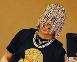 Золотые цепи вместо волос: рэпер из Мексики удивил весь мир необычной внешностью