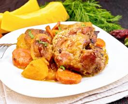 Что приготовить на ужин: рецепт тыквы, запеченной с курицей и картофелем в духовке