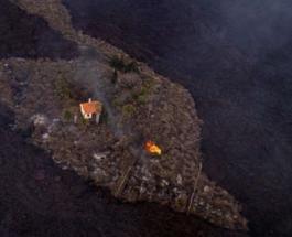 """""""Чудо-дом"""" на острове Ла-Пальма разрушен лавой: уцелеть зданию все же не удалось"""