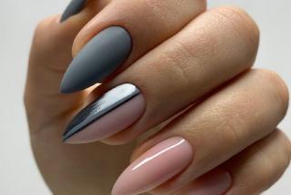 Маникюр серый с розовым: идеи дизайна для ногтей на каждый день
