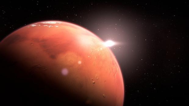 планета Марс в небе