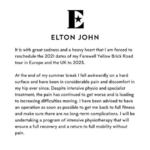 Заявление Элтона Джона