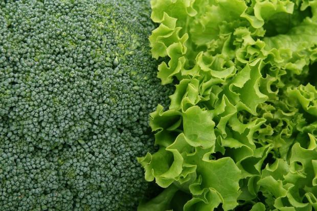 брокколи и лист салата