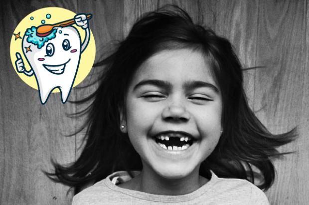 Здоровые зубы беречь нужно с детства