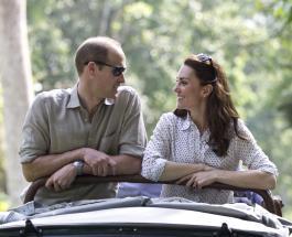 Кейт Миддлтон и принц Уильям встретились со школьниками в ботаническом саду