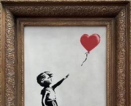 Частично поврежденная картина Бэнкси выставлена на аукцион современного искусства