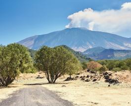 На Сицилии проснулся вулкан Этна: в небо поднялся высокий столб дыма и пепла