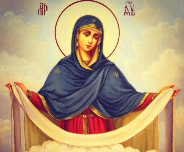 фреска Покрова Пресвятой Богородицы