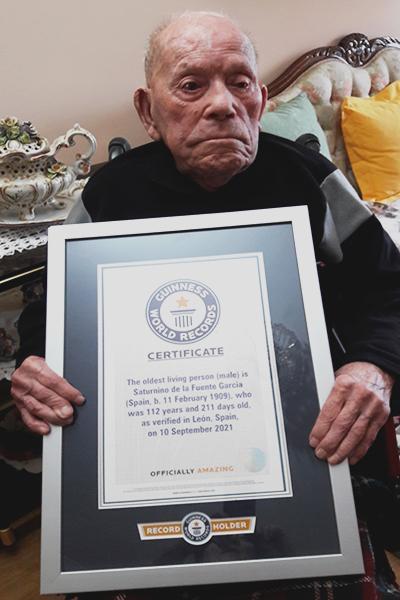 самый старый мужчина