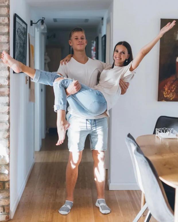 Анастасия Цветаева с сыном